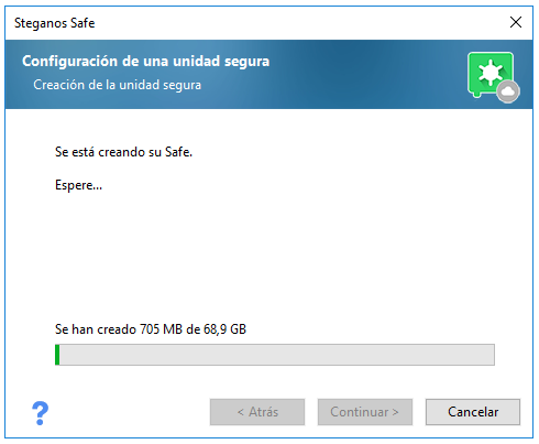 Sincronizar el cofre virtual con el cloud storage del Google Drive